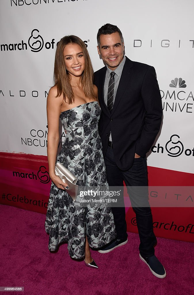 Honoree Jessica Alba and producer Cash Warren attend the 2015 March Of Dimes Celebration Of Babies at the Beverly Wilshire Four Seasons Hotel on...
