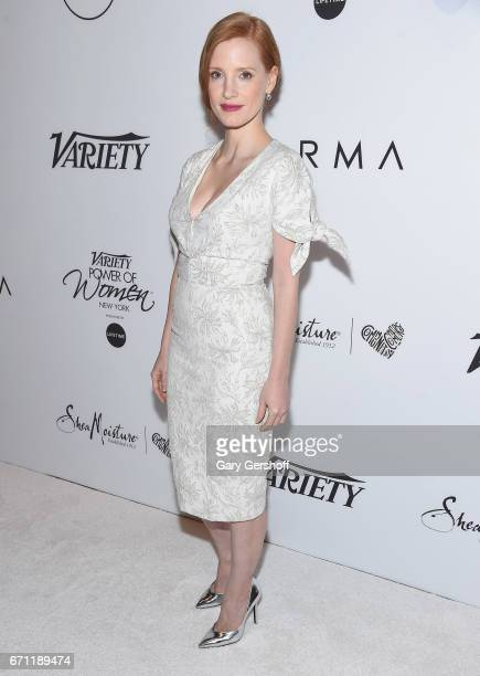 Honoree Jessica Chastain attends Variety's Power of Women New York luncheon at Cipriani Midtown on April 21 2017 in New York City