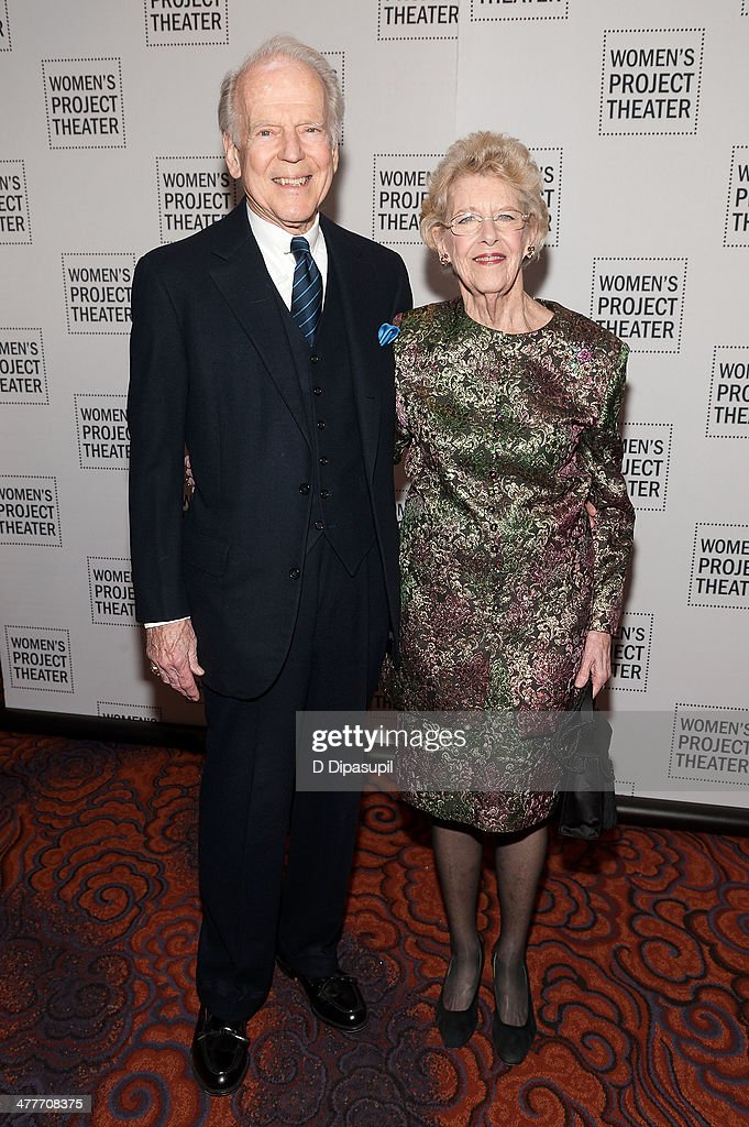 Honoree Joan Vail Thorne (R) and husband Jack Thorne attend the Women Project Theater's 2014 Women Of Achievement Gala at the Mandarin Oriental Hotel on March 10, 2014 in New York City.