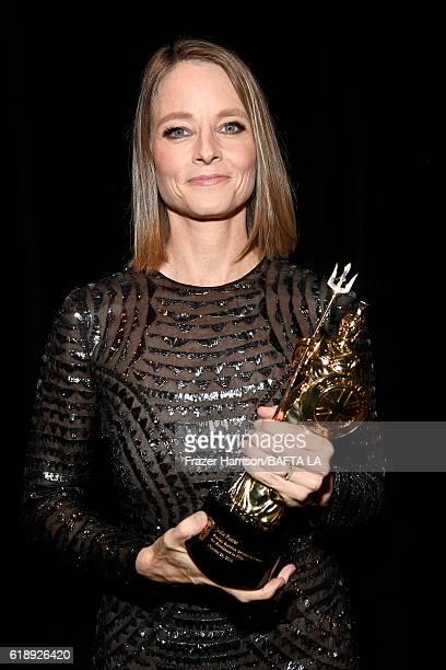 Honoree Jodie Foster recipient of the Stanley Kubrick Britannia Award for Excellence in Film attends the 2016 AMD British Academy Britannia Awards...