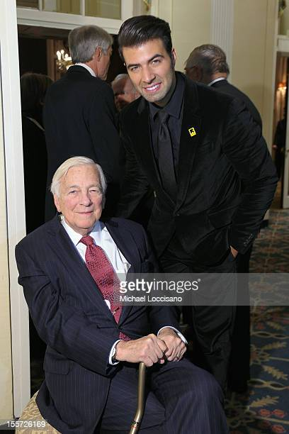Honoree John C Whitehead and Jencarlos Canela attend the annual Freedom Award Benefit hosted by the International Rescue Committee at The...