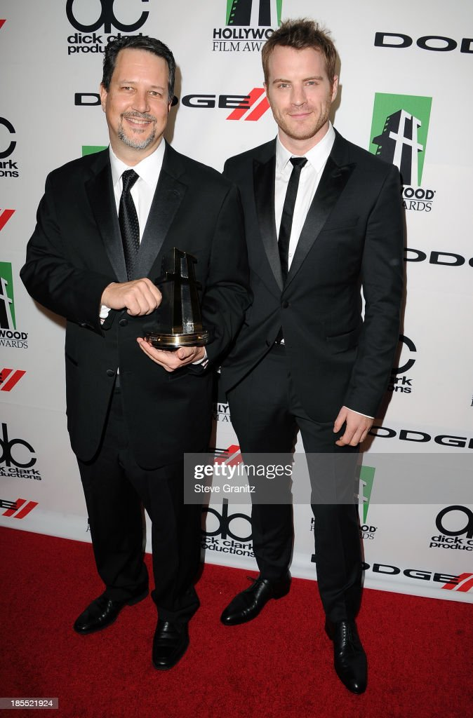 Honoree John Knoll and actor Robert Kazinsky pose in the press room during the 17th Annual Hollywood Film Awards at The Beverly Hilton Hotel on...
