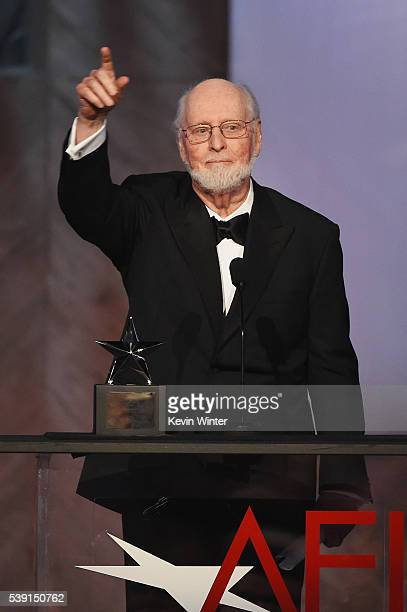 Honoree John Williams accepts the AFI Life Achievement Award onstage during American Film Institute's 44th Life Achievement Award Gala Tribute to...