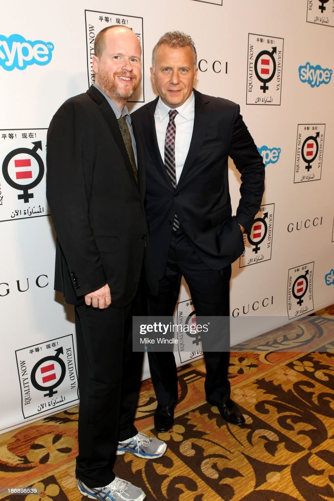 Honoree Joss Whedon and host Paul Reiser attend Equality Now presents 'Make Equality Reality' at Montage Hotel on November 4, 2013 in Los Angeles, California.