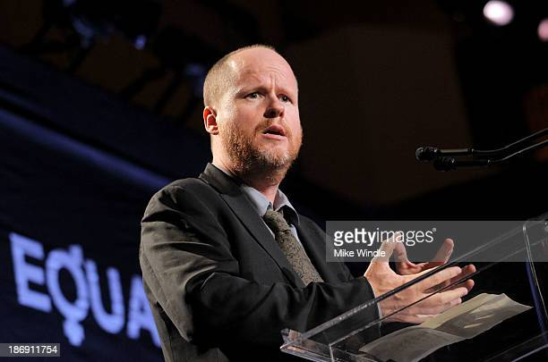 Honoree Joss Whedon speaks onstage during Equality Now presents 'Make Equality Reality' at Montage Hotel on November 4 2013 in Los Angeles California