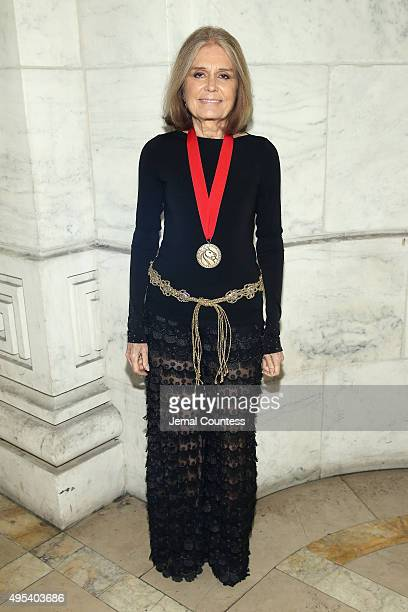 Honoree Journalist Social Political Activist Gloria Steinem attends the 2015 Library Lions Benefit on November 2 2015 in New York City