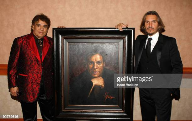 Honoree Juan Gabriel and official Latin Grammy artist Fabian Perez attends 2009 Person Of The Year Honoring Juan Gabriel at Mandalay Bay Events...