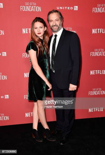 Honoree Judd Apatow and Iris Apatow attend the SAGAFTRA Foundation Patron of the Artists Awards 2017 at the Wallis Annenberg Center for the...
