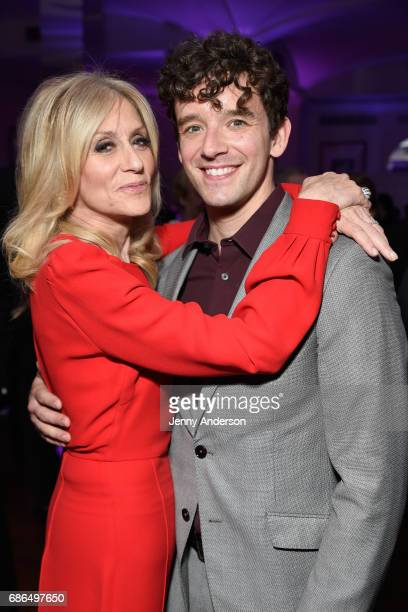 Honoree Judith Light and actor Michael Urie arrive at The Eugene O'Neill Theater Centers to the Monte Cristo Awards honoring Judith Light on May 21...