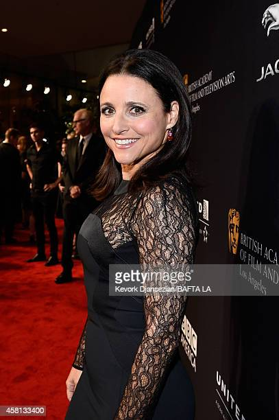 Honoree Julia LouisDreyfus attends the BAFTA Los Angeles Jaguar Britannia Awards presented by BBC America and United Airlines at The Beverly Hilton...