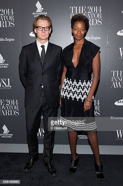 Honoree Kara Walker and Philippe Vergne attend WSJ Magazine's 'Innovator Of The Year' Awards at the Museum of Modern Art on November 5 2014 in New...
