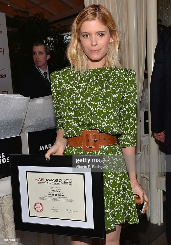 Honoree <a gi-track='captionPersonalityLinkClicked' href=/galleries/search?phrase=Kate+Mara&family=editorial&specificpeople=544680 ng-click='$event.stopPropagation()'>Kate Mara</a> attends the 14th annual AFI Awards Luncheon at the Four Seasons Hotel Beverly Hills on January 10, 2014 in Beverly Hills, California.