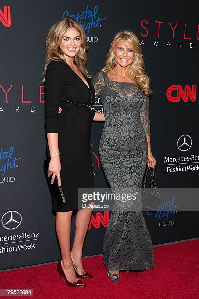 Honoree Kate Upton and Christie Brinkley attend the 2013 Style Awards at Lincoln Center on September 4 2013 in New York City