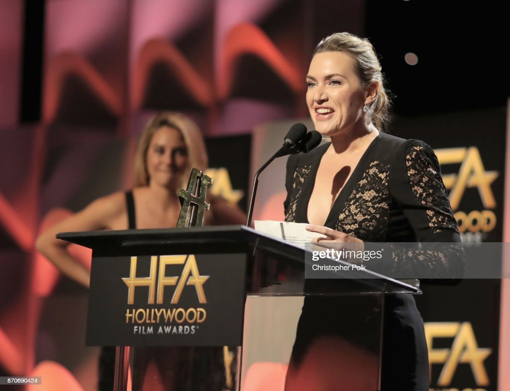 Honoree Kate Winslet accepts the Hollywood Actress Award for 'Wonder Wheel' onstage during the 21st Annual Hollywood Film Awards at The Beverly Hilton Hotel on November 5, 2017 in Beverly Hills, California.