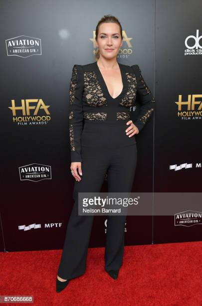 Honoree Kate Winslet poses in the press room during the 21st Annual Hollywood Film Awards at The Beverly Hilton Hotel on November 5 2017 in Beverly...