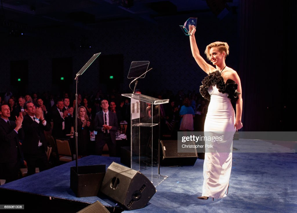 Honoree Katy Perry accepts the HRC National Equality Award onstage at The Human Rights Campaign 2017 Los Angeles Gala Dinner at JW Marriott Los Angeles at L.A. LIVE on March 18, 2017 in Los Angeles, California.