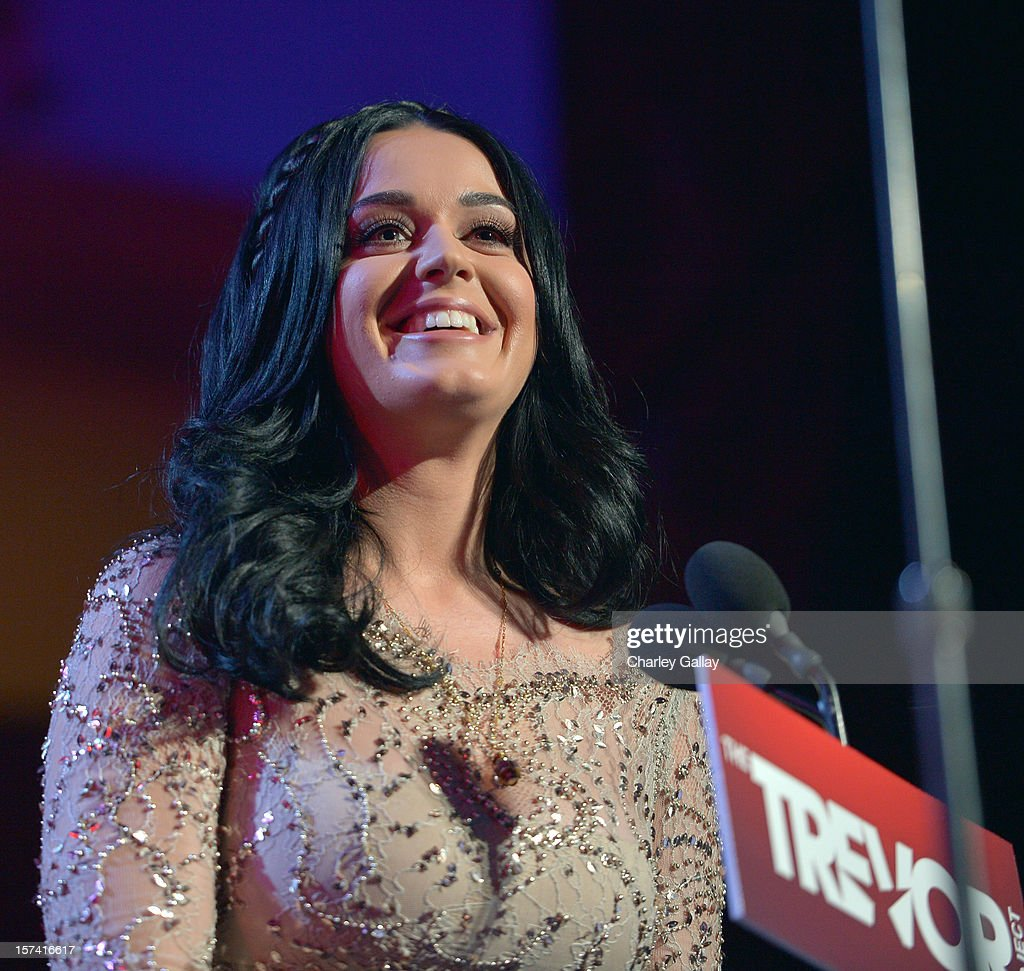 Honoree <a gi-track='captionPersonalityLinkClicked' href=/galleries/search?phrase=Katy+Perry&family=editorial&specificpeople=599558 ng-click='$event.stopPropagation()'>Katy Perry</a> onstage at 'Trevor Live' honoring <a gi-track='captionPersonalityLinkClicked' href=/galleries/search?phrase=Katy+Perry&family=editorial&specificpeople=599558 ng-click='$event.stopPropagation()'>Katy Perry</a> and Audi of America for The Trevor Project held at The Hollywood Palladium on December 2, 2012 in Los Angeles, California.