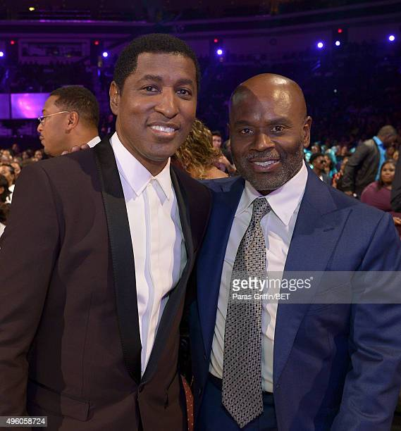 Honoree Kenneth 'Babyface' Edmonds and music executive LA Reid attend the 2015 Soul Train Music Awards at the Orleans Arena on November 6 2015 in Las...