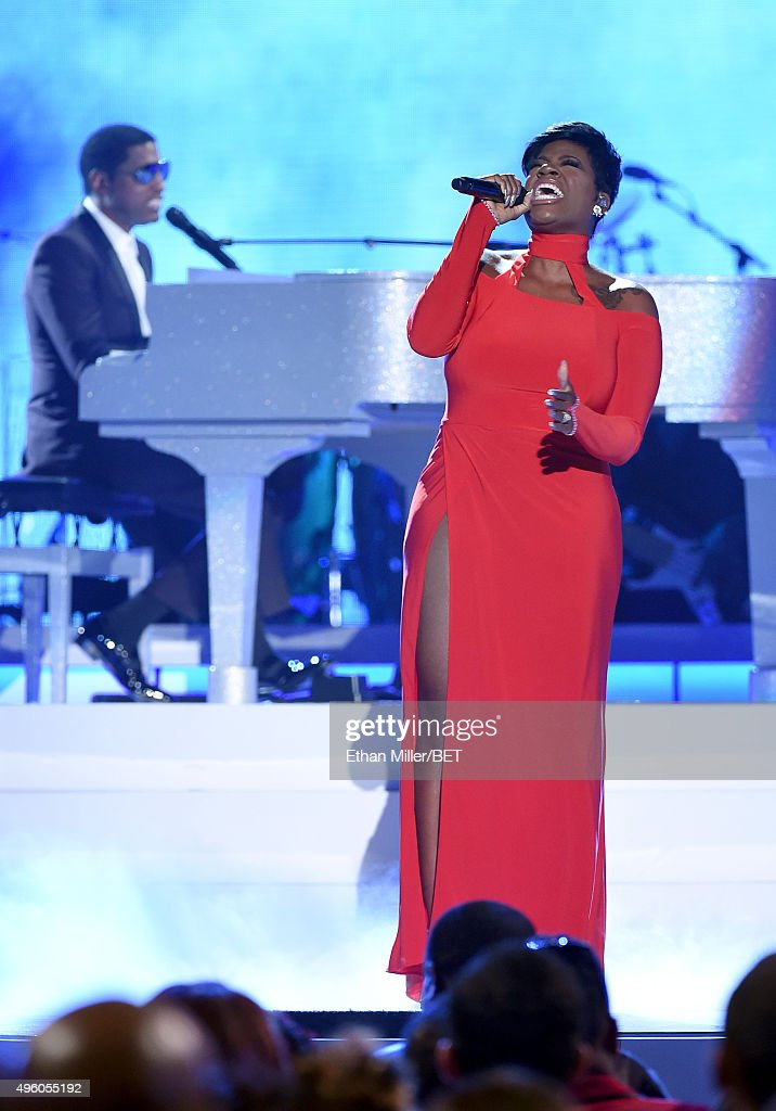 Honoree Kenneth 'Babyface' Edmonds and recording artist Fantasia Barrino perform onstage during the 2015 Soul Train Music Awards at the Orleans Arena...