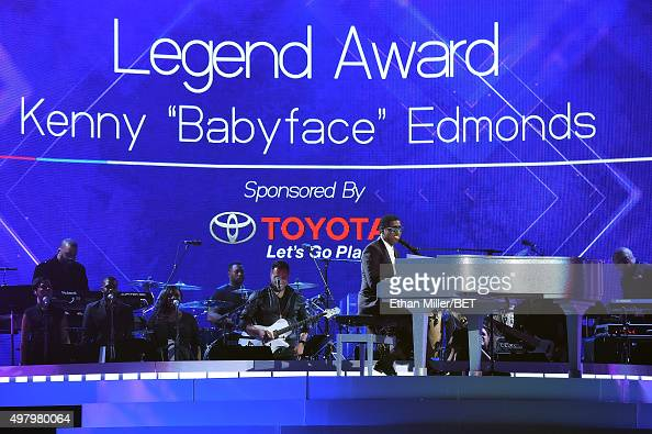 Honoree Kenneth 'Babyface' Edmonds performs during the 2015 Soul Train Music Awards at the Orleans Arena on November 6 2015 in Las Vegas Nevada