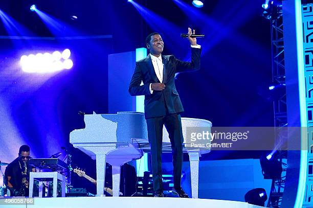 Honoree Kenneth 'Babyface' Edmonds performs onstage during the 2015 Soul Train Music Awards at the Orleans Arena on November 6 2015 in Las Vegas...