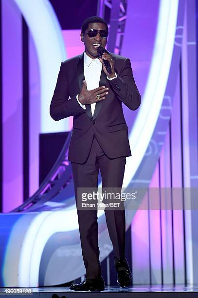Honoree Kenneth 'Babyface' Edmonds speaks onstage during the 2015 Soul Train Music Awards at the Orleans Arena on November 6 2015 in Las Vegas Nevada