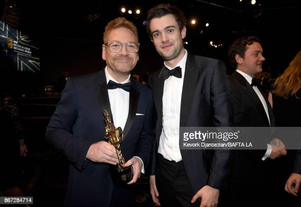 Honoree Kenneth Branagh and Jack Whitehall pose with Albert R Broccoli Britannia Award for Worldwide Contribution to Entertainment at the 2017 AMD...