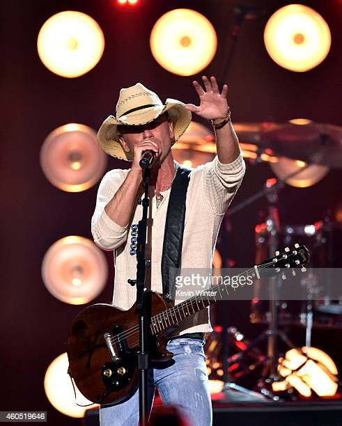 Honoree Kenny Chesney performs onstage during the 2014 American Country Countdown Awards at Music City Center on December 15 2014 in Nashville...