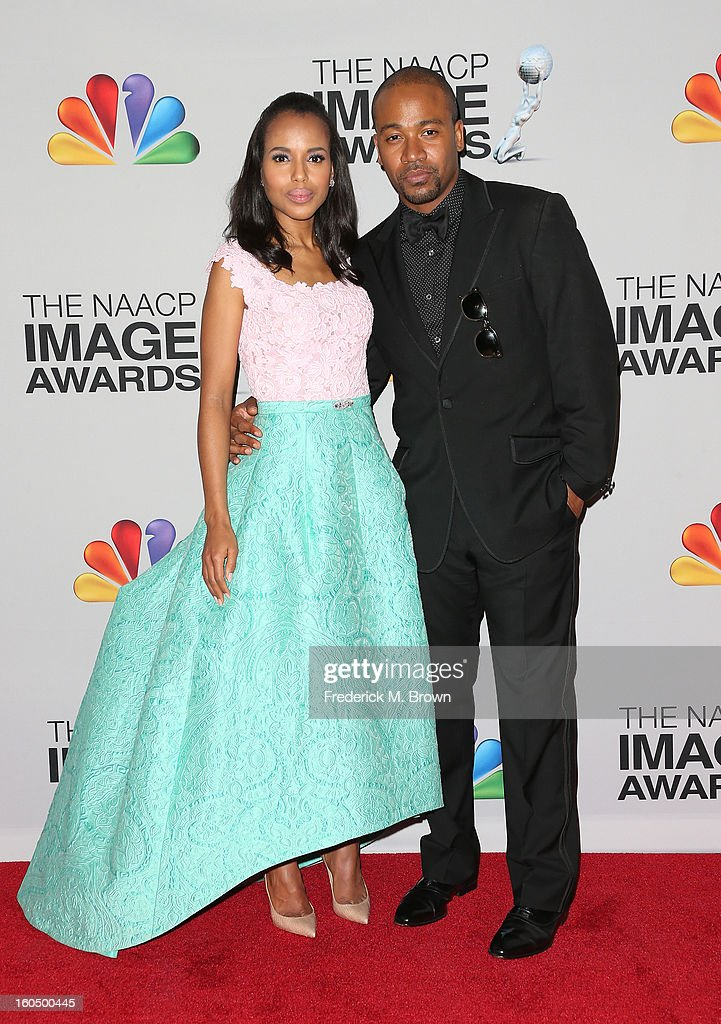 Honoree <a gi-track='captionPersonalityLinkClicked' href=/galleries/search?phrase=Kerry+Washington&family=editorial&specificpeople=201534 ng-click='$event.stopPropagation()'>Kerry Washington</a> and actor <a gi-track='captionPersonalityLinkClicked' href=/galleries/search?phrase=Columbus+Short&family=editorial&specificpeople=536546 ng-click='$event.stopPropagation()'>Columbus Short</a> pose in the press room during the 44th NAACP Image Awards at The Shrine Auditorium on February 1, 2013 in Los Angeles, California.