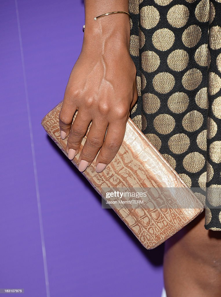 Honoree Kerry Washington (handbag detail) arrives at Variety's 5th Annual Power of Women event presented by Lifetime at the Beverly Wilshire Four Seasons Hotel on October 4, 2013 in Beverly Hills, California.