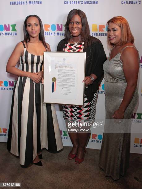 Honoree Kerry Washington Council Member Vanessa L Gibbons and City Council Member Annabel Palma attend the 2017 The Bronx Children's Museum Gala at...
