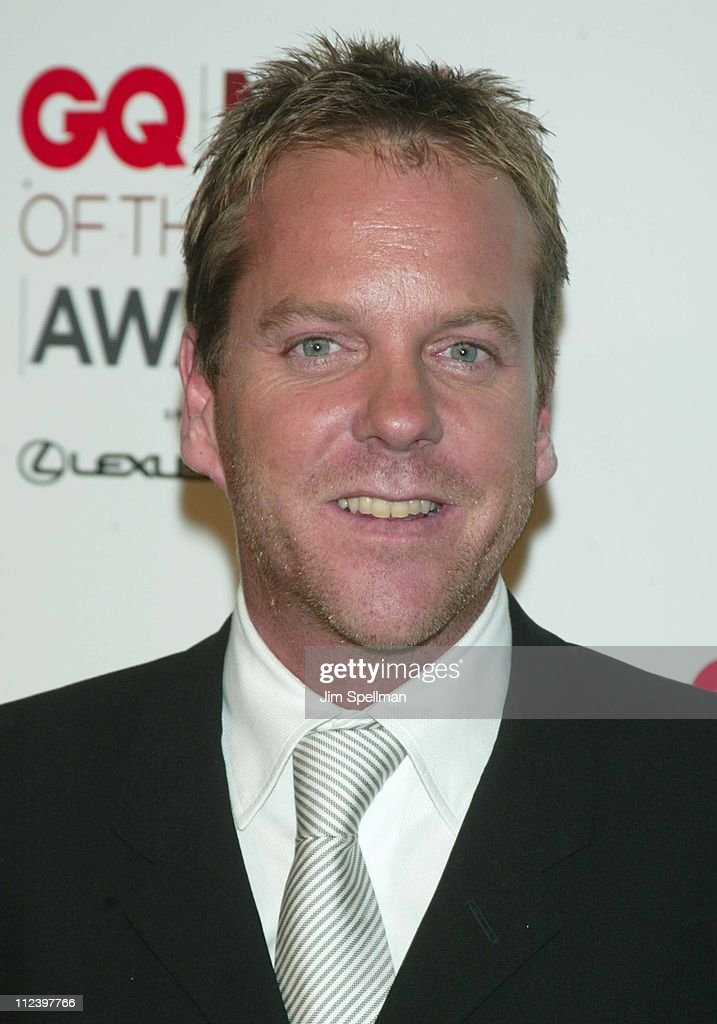 Honoree Kiefer Sutherland during 2002 GQ Men of the Year Awards - Press Room at Hammerstein Ballroom in New York City, New York, United States.