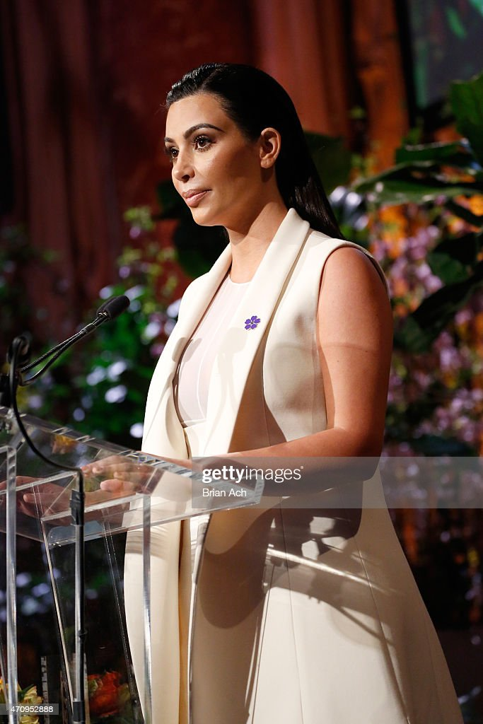 Honoree <a gi-track='captionPersonalityLinkClicked' href=/galleries/search?phrase=Kim+Kardashian&family=editorial&specificpeople=753387 ng-click='$event.stopPropagation()'>Kim Kardashian</a> West speaks onstage at Variety's Power of Women New York presented by Lifetime at Cipriani 42nd Street on April 24, 2015 in New York City.