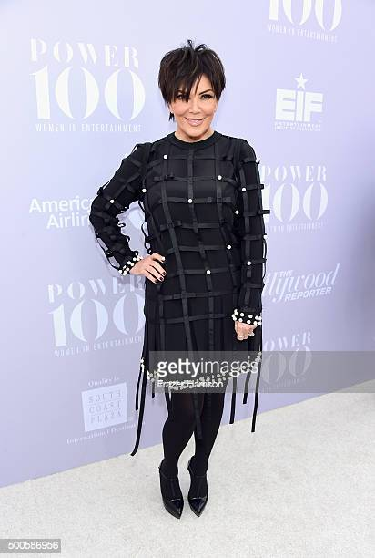 Honoree Kris Jenner attends the 24th annual Women in Entertainment Breakfast hosted by The Hollywood Reporter at Milk Studios on December 9 2015 in...