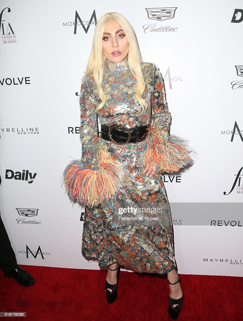 Honoree Lady Gaga attends the Daily Front Row 'Fashion Los Angeles Awards' at Sunset Tower Hotel on March 20 2016 in West Hollywood California