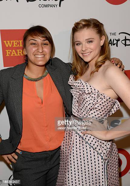 Honoree Laila AlShamma and actress Chloe Grace Moretz attend the 9th Annual GLSEN Respect Awards at Beverly Hills Hotel on October 18 2013 in Beverly...