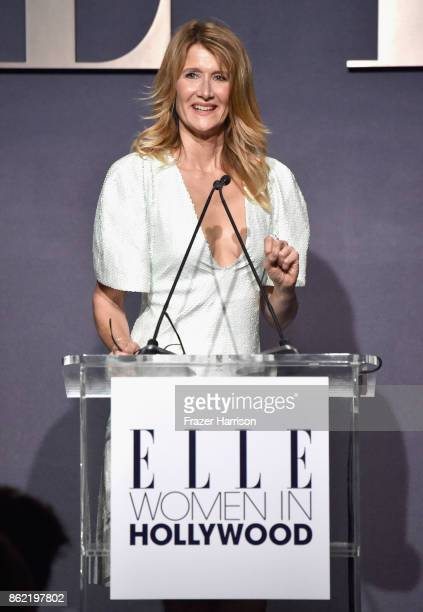 Honoree Laura Dern accepts award onstage at ELLE's 24th Annual Women in Hollywood Celebration presented by L'Oreal Paris Real Is Rare Real Is A...