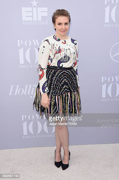 Honoree Lena Dunham attends the 24th annual Women in Entertainment Breakfast hosted by The Hollywood Reporter at Milk Studios on December 9 2015 in...