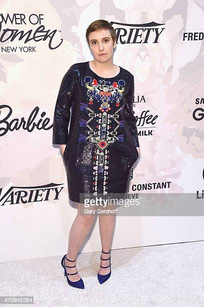 Honoree Lena Dunham attends the 2nd Annual Variety Power of Women New York Luncheon at Cipriani 42nd Street on April 24 2015 in New York City