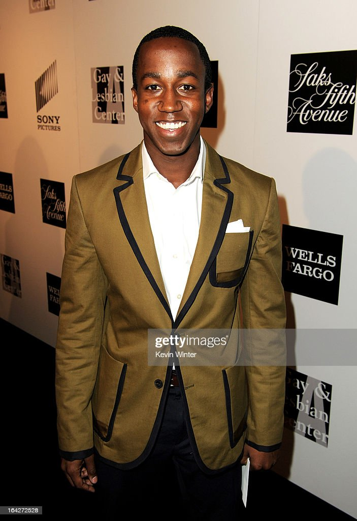 Honoree Lenworth Poyser arrives at 'An Evening' benifiting The L.A. Gay & Lesbian Center at the Beverly Wilshire Hotel on March 21, 2013 in Beverly Hills, California.