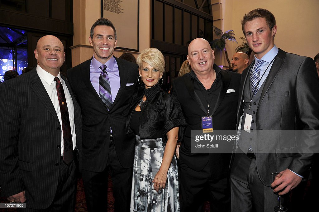 Honoree Leo McCarthy of Mariah's Challenge, former NFL player <a gi-track='captionPersonalityLinkClicked' href=/galleries/search?phrase=Kurt+Warner&family=editorial&specificpeople=202571 ng-click='$event.stopPropagation()'>Kurt Warner</a>, Brenda Warner and Bruno Serato attend the CNN Heroes: An All Star Tribute at The Shrine Auditorium on December 2, 2012 in Los Angeles, California. 23046_003_JS_0121.JPG