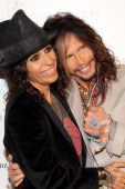 Honoree Linda Perry and singer Steven Tyler attend The Art of Elysium's 7th Annual HEAVEN Gala presented by MercedesBenz at Skirball Cultural Center...