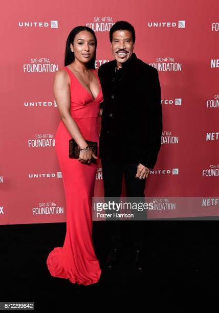 Honoree Lionel Richie and Lisa Parigi attend the SAGAFTRA Foundation Patron of the Artists Awards 2017 at the Wallis Annenberg Center for the...