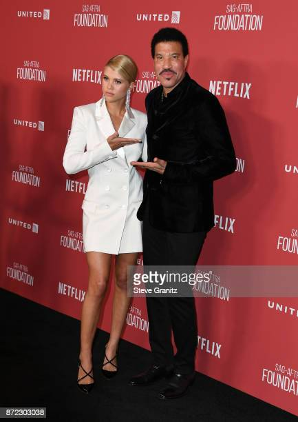 Honoree Lionel Richie and Sofia Richie attend the SAGAFTRA Foundation Patron of the Artists Awards 2017 at the Wallis Annenberg Center for the...