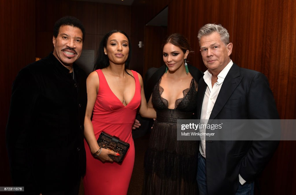 Honoree Lionel Richie, Lisa Parigi, Katharine McPhee, and David Foster attend the SAG-AFTRA Foundation Patron of the Artists Awards 2017 at the Wallis Annenberg Center for the Performing Arts on November 9, 2017 in Beverly Hills, California.
