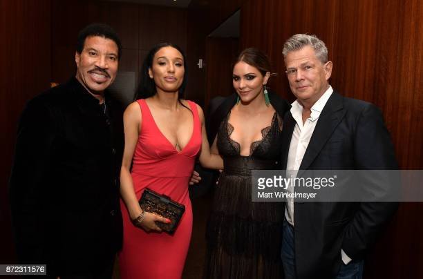 Honoree Lionel Richie Lisa Parigi Katharine McPhee and David Foster attend the SAGAFTRA Foundation Patron of the Artists Awards 2017 at the Wallis...