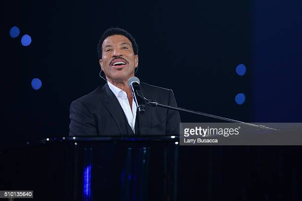 Honoree Lionel Richie performs onstage during the 2016 MusiCares Person of the Year honoring Lionel Richie at the Los Angeles Convention Center on...