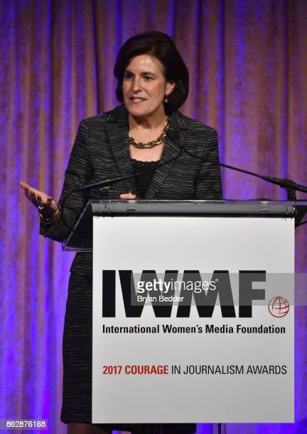 Honoree Lisa Caputo attends The International Women's Media Foundation's 28th Annual Courage In Journalism Awards Ceremony at Cipriani 42nd Street on...