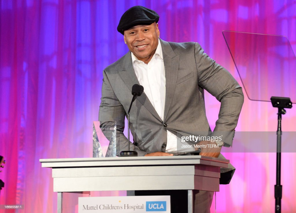 Honoree <a gi-track='captionPersonalityLinkClicked' href=/galleries/search?phrase=LL+Cool+J&family=editorial&specificpeople=201567 ng-click='$event.stopPropagation()'>LL Cool J</a> recipient of the Kaleidoscope Award speaks onstage during The Kaleidoscope Ball - Designing The Future benefitting the UCLA Children's Discovery and Innovation Institute at Mattel Children's Hospital UCLA at Beverly Hills Hotel on April 17, 2013 in Beverly Hills, California.