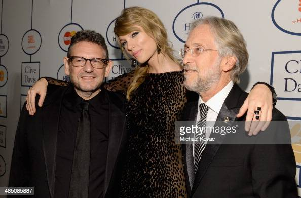Honoree Lucian Grainge recording artist Taylor Swift and Recording Academy President/CEO Neil Portnow attend the 56th annual GRAMMY Awards PreGRAMMY...